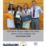 Winners of the 2 Barbados Trips at Veuve Clicquot Calgary Polo Classic